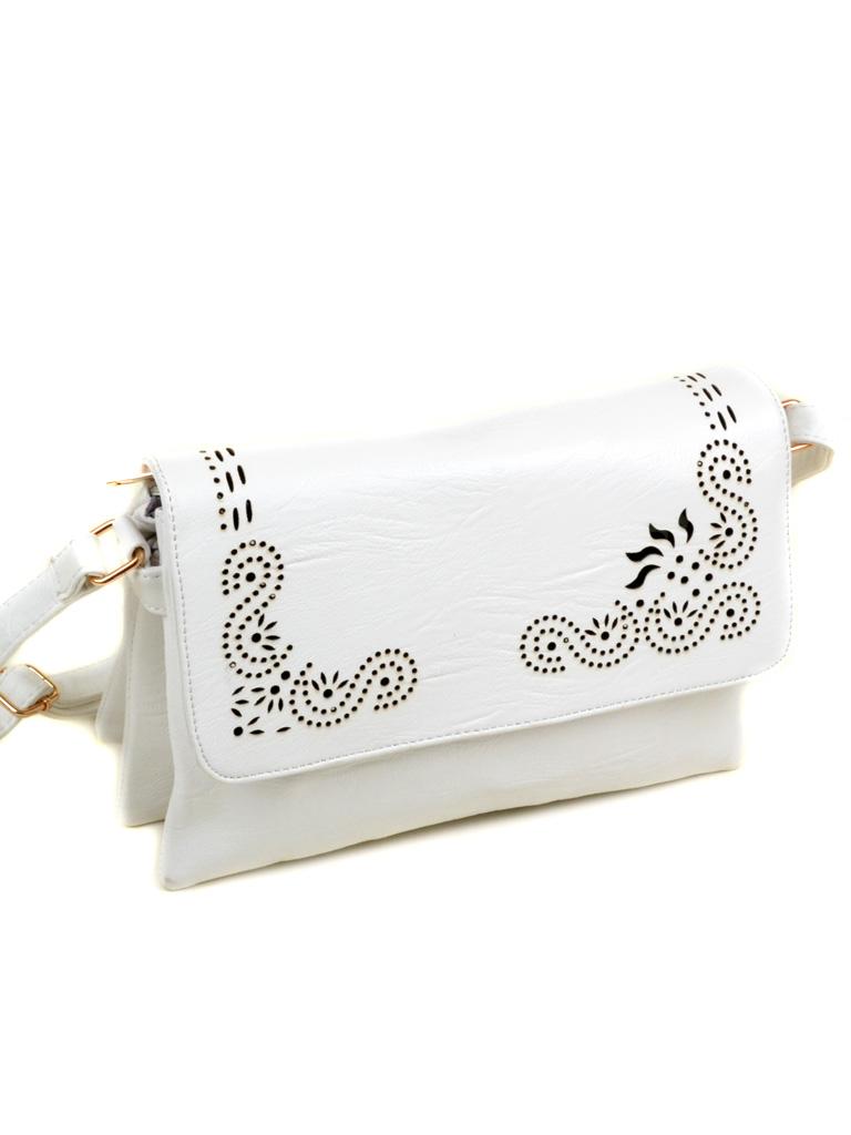 Сумка Женская Клатч иск-кожа 3-07 M-06 white