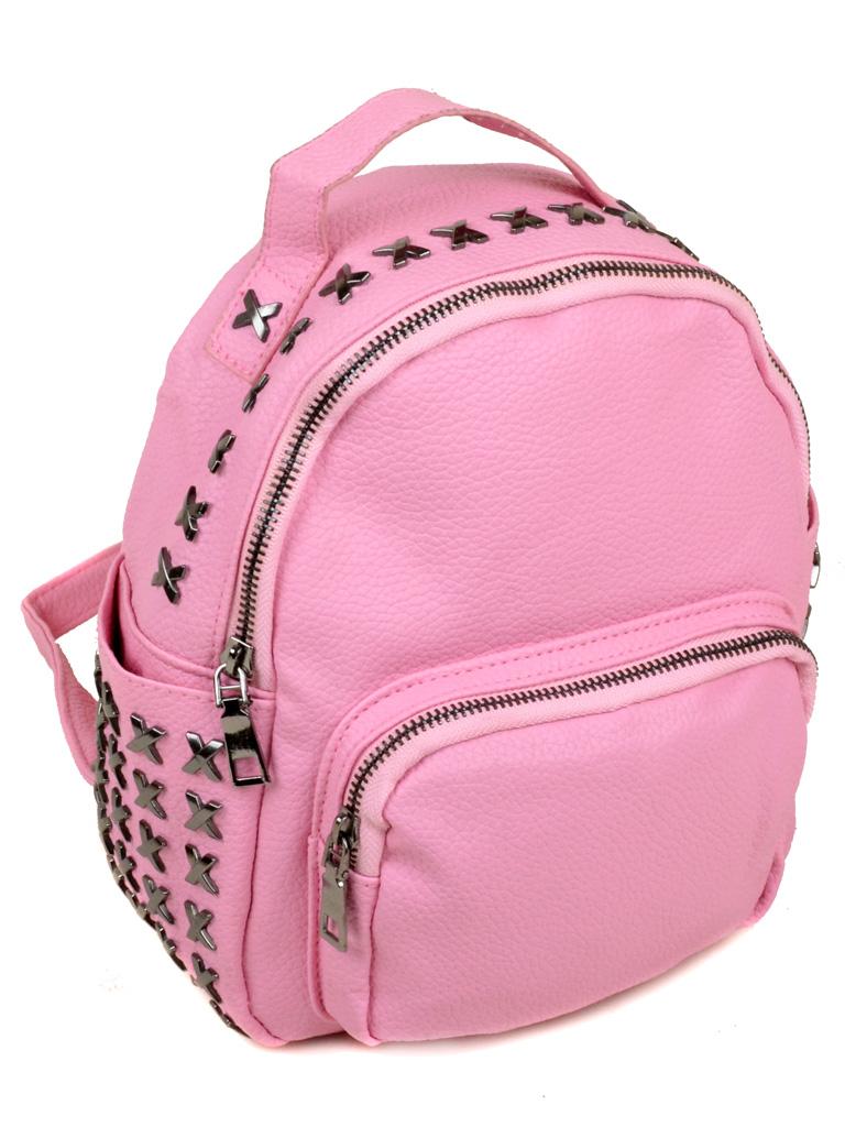 Сумка Женская Рюкзак иск-кожа 3-07 5802 pink