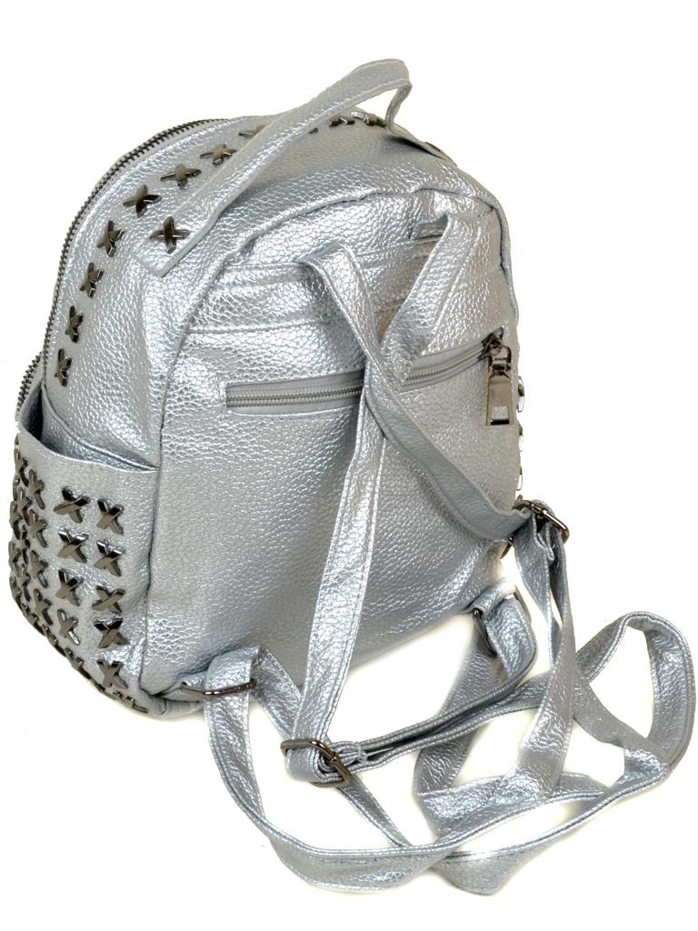 Сумка Женская Рюкзак иск-кожа 3-07 5802 silver