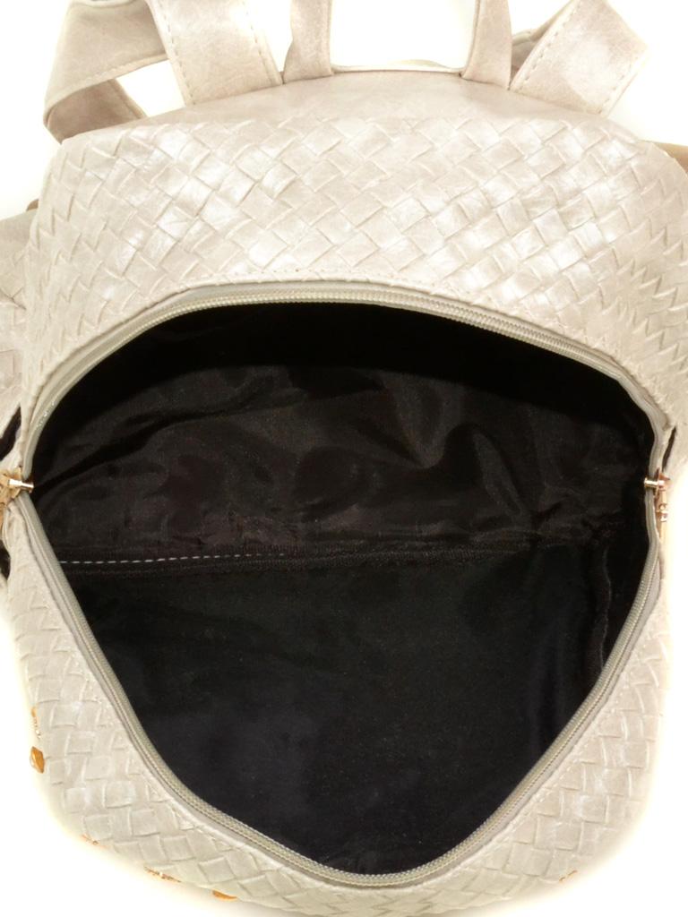 Сумка Женская Рюкзак иск-кожа 3-07 6611 beige - фото 4