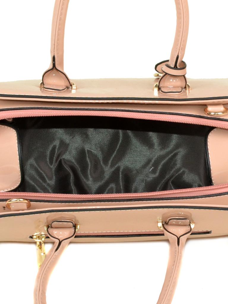Сумка Женская Классическая иск-кожа Podium 3-04 640 pink лак - фото 4