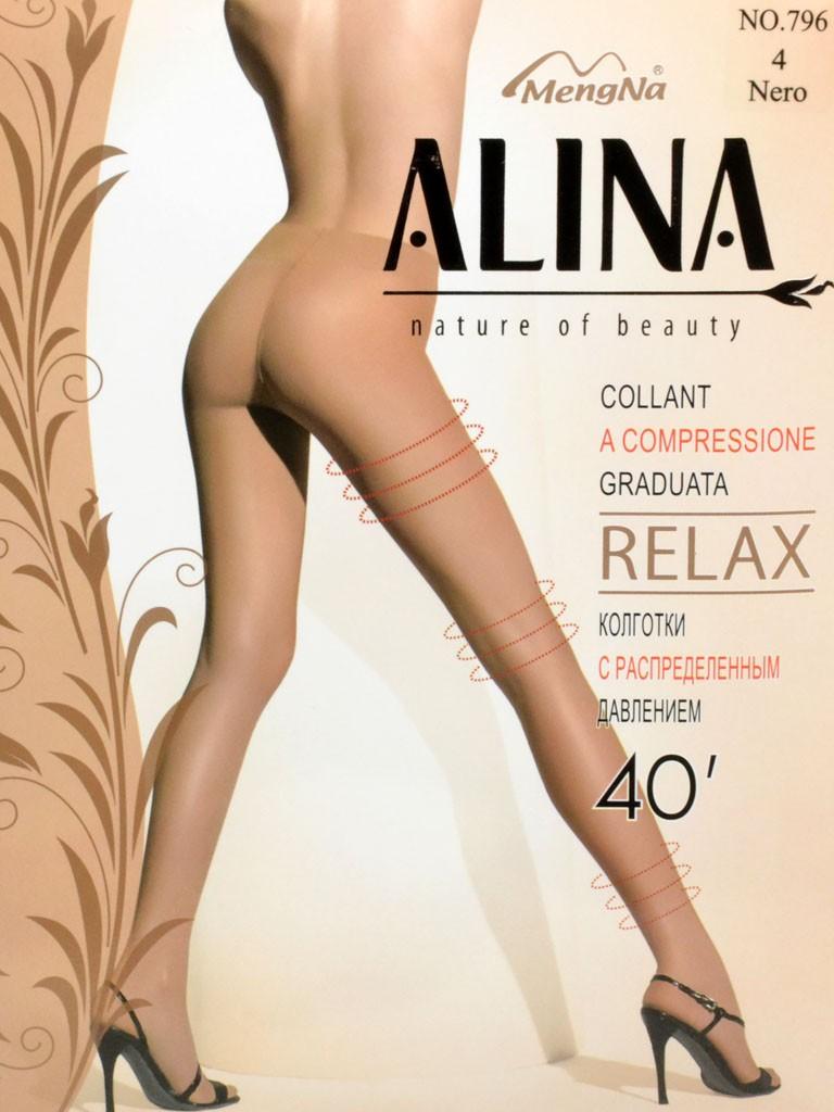 Колготки Женские капрон Alina 796 40 DEN Nero 4(р)