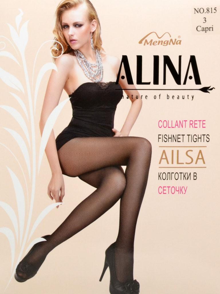 Колготки Женские капрон Alina 815 сетка Capri 3(р)