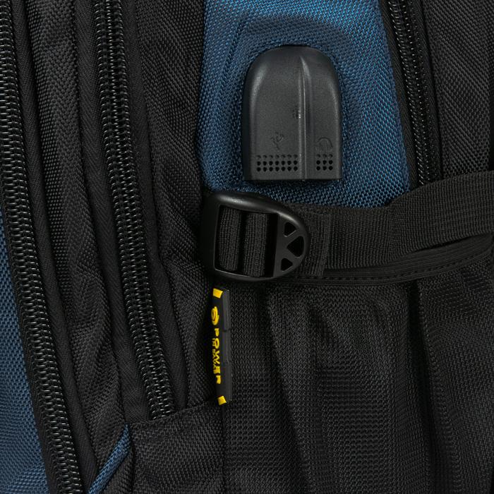 Рюкзак Городской нейлон Power In Eavas 924 black-blue - фото 4