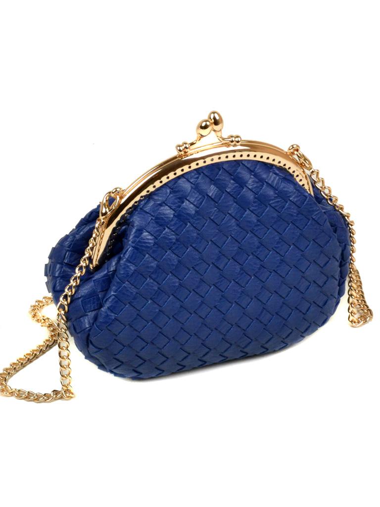 Сумка Женская Клатч иск-кожа Podium 5-01 A3-1 blue