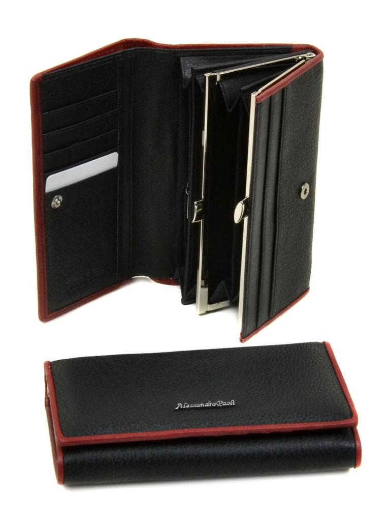 Кошелек Classik кожа Alessandro Paoli WS-2 black