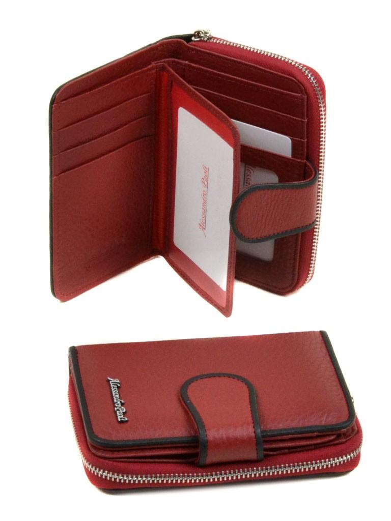 Кошелек Classik кожа Alessandro Paoli WS-4 red