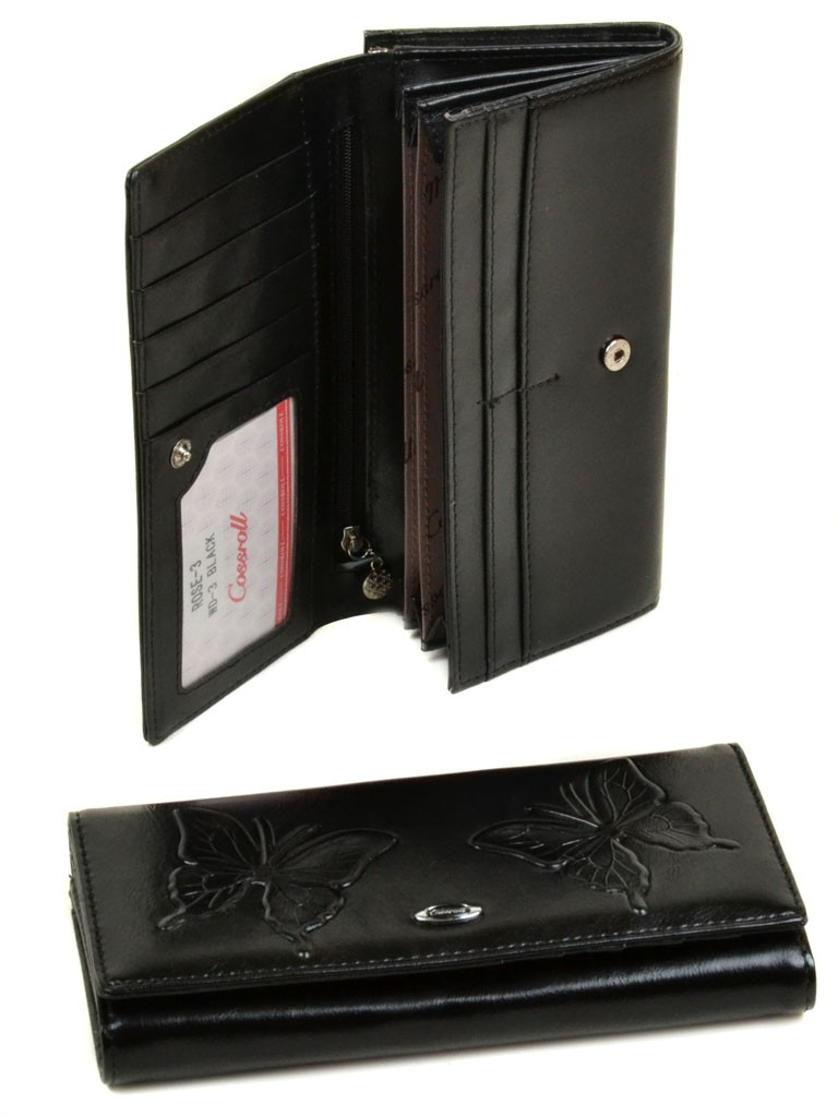 Кошелек Rose Series-3 иск-кожа Cossrol WD-3 black