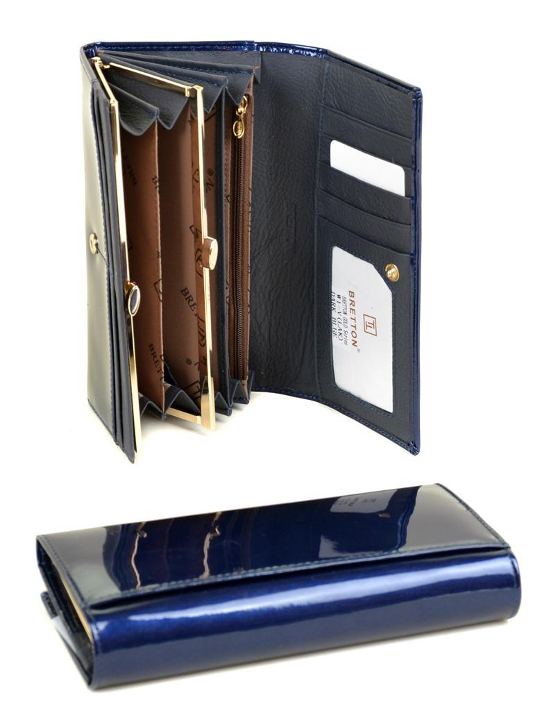 Кошелек Gold кожа BRETTON W1-V dark-blue - фото 4