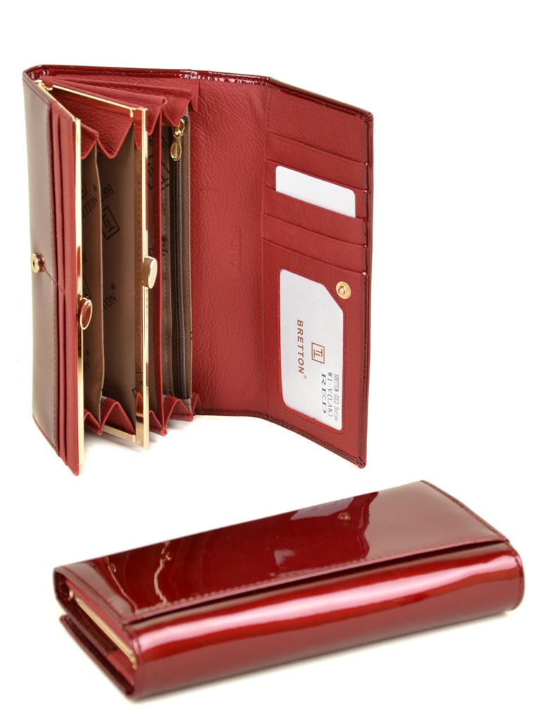 Кошелек Gold кожа BRETTON W1-V red - фото 4