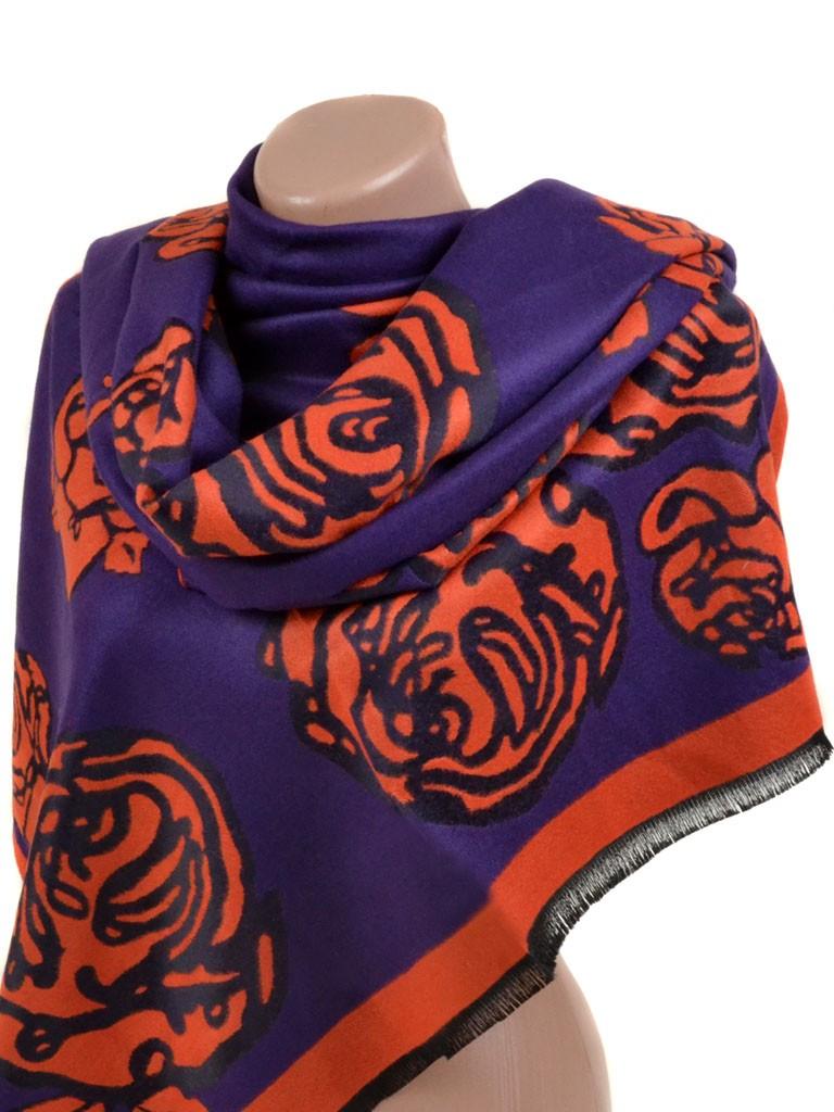 Палантин кашемир 32061 purple