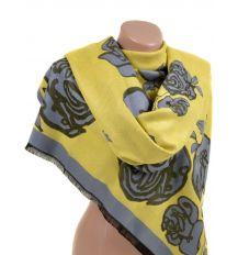 Палантин кашемир 32061 yellow Распродажа