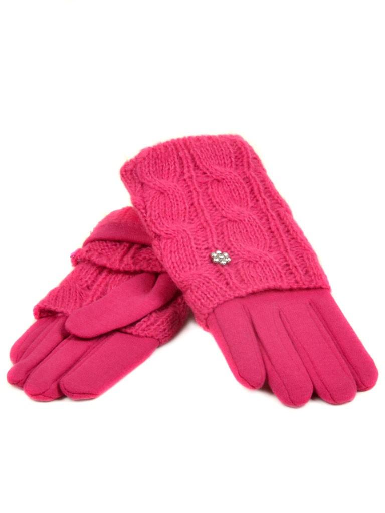 Перчатка Женская вязка F15/1 роз