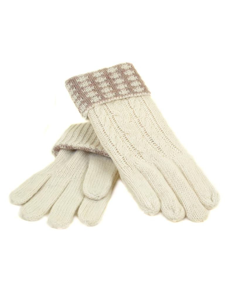 Перчатка Женская вязка G-186 белая Распродажа