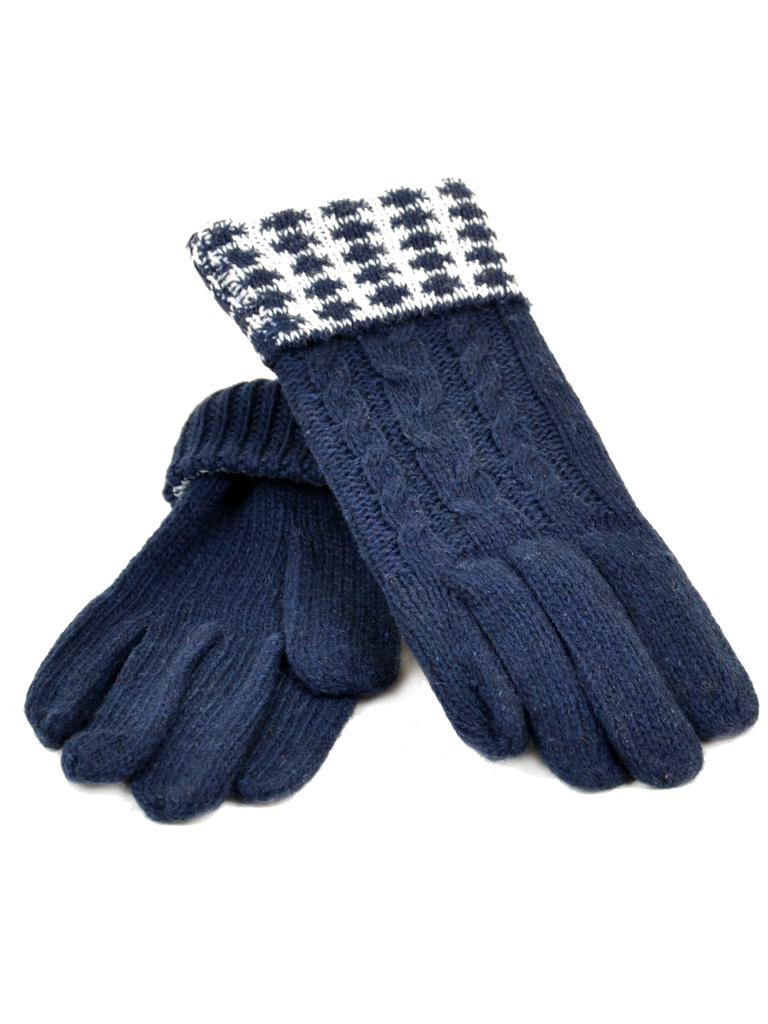 Перчатка Женская вязка G-186 син Распродажа