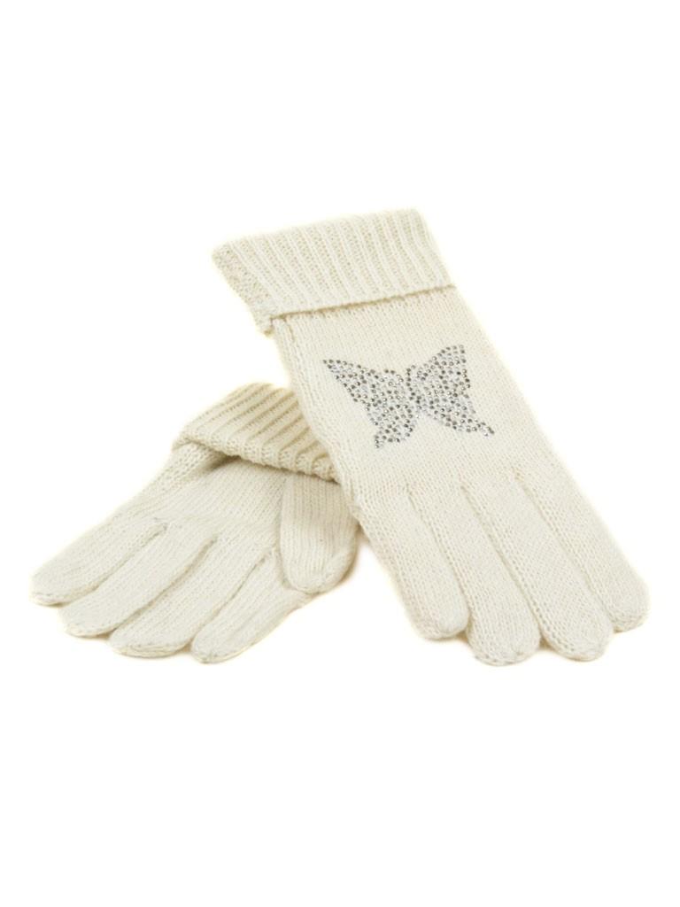 Перчатка Женская вязка K-180B бел