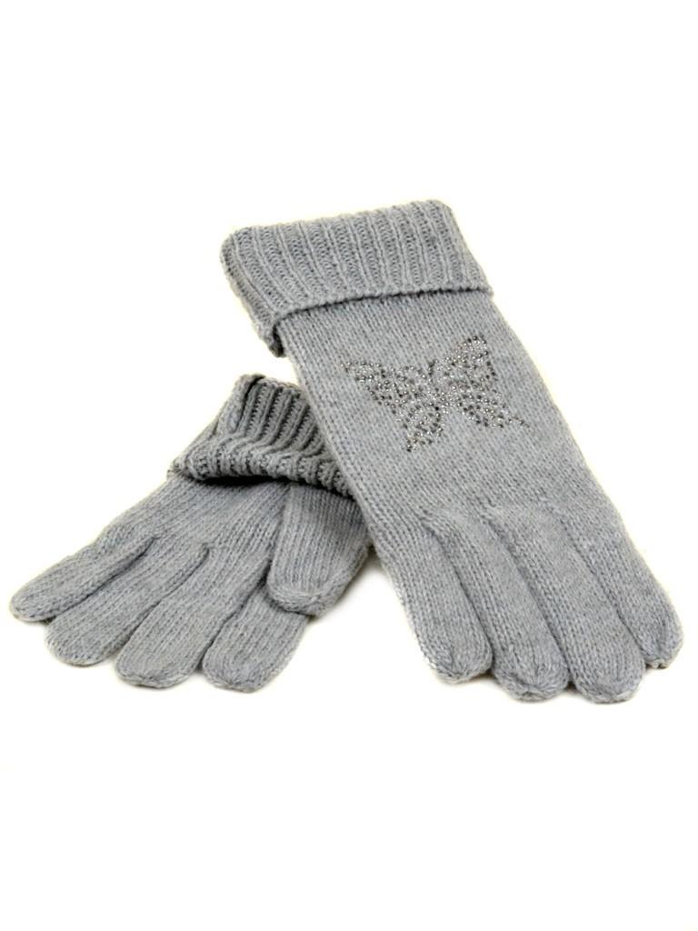 Перчатка Женская вязка K-180B св.сер