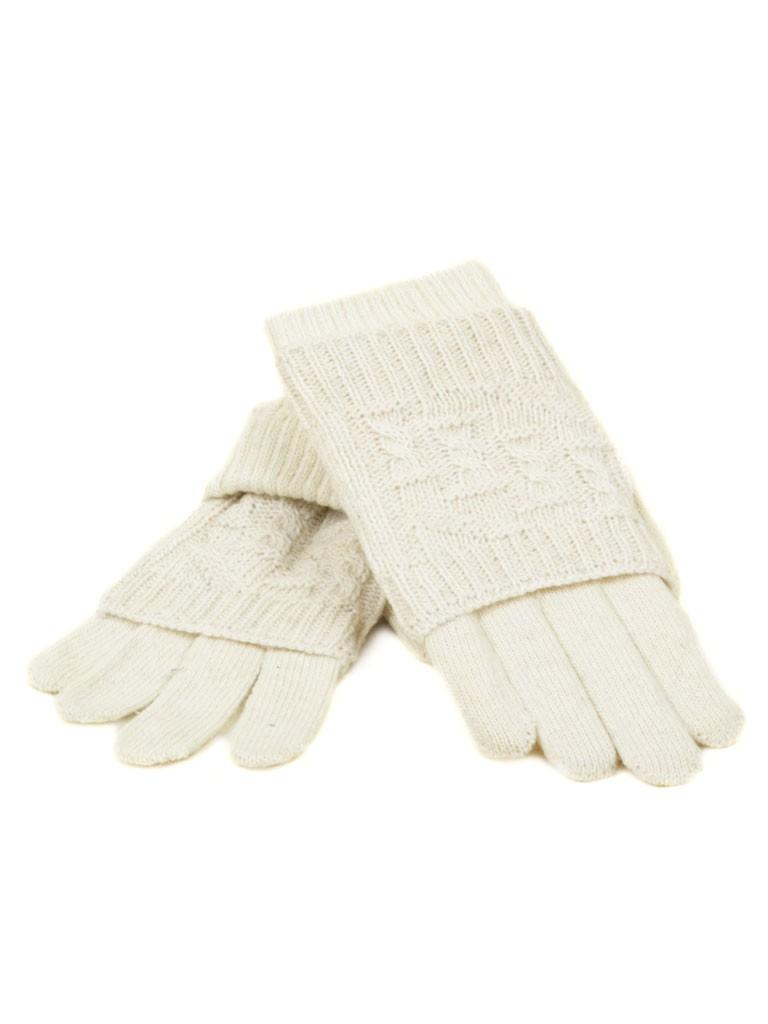 Перчатка Женская вязка K-53 бел