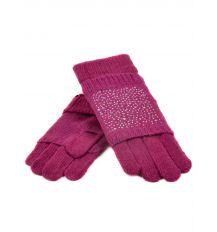Перчатка Женская вязка K-58B роз Распродажа