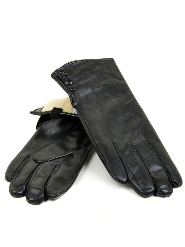 Перчатка Женская иск-кожа МариStyle Д-к(ПЛ) F17-(07114) Распродажа