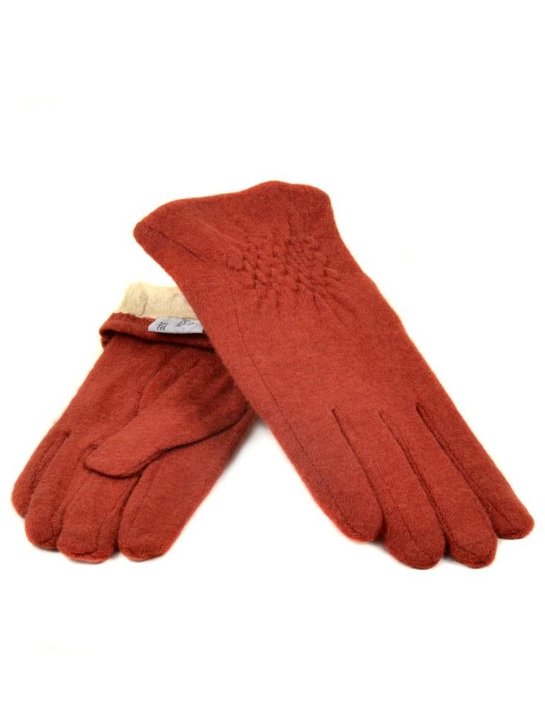 Перчатка Женская кашемир МариFashion (ПЛ) дор F12 мод1 бордо