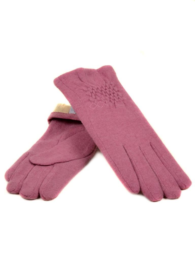 Перчатка Женская кашемир МариFashion (ПЛ) дор F12 мод1 роз