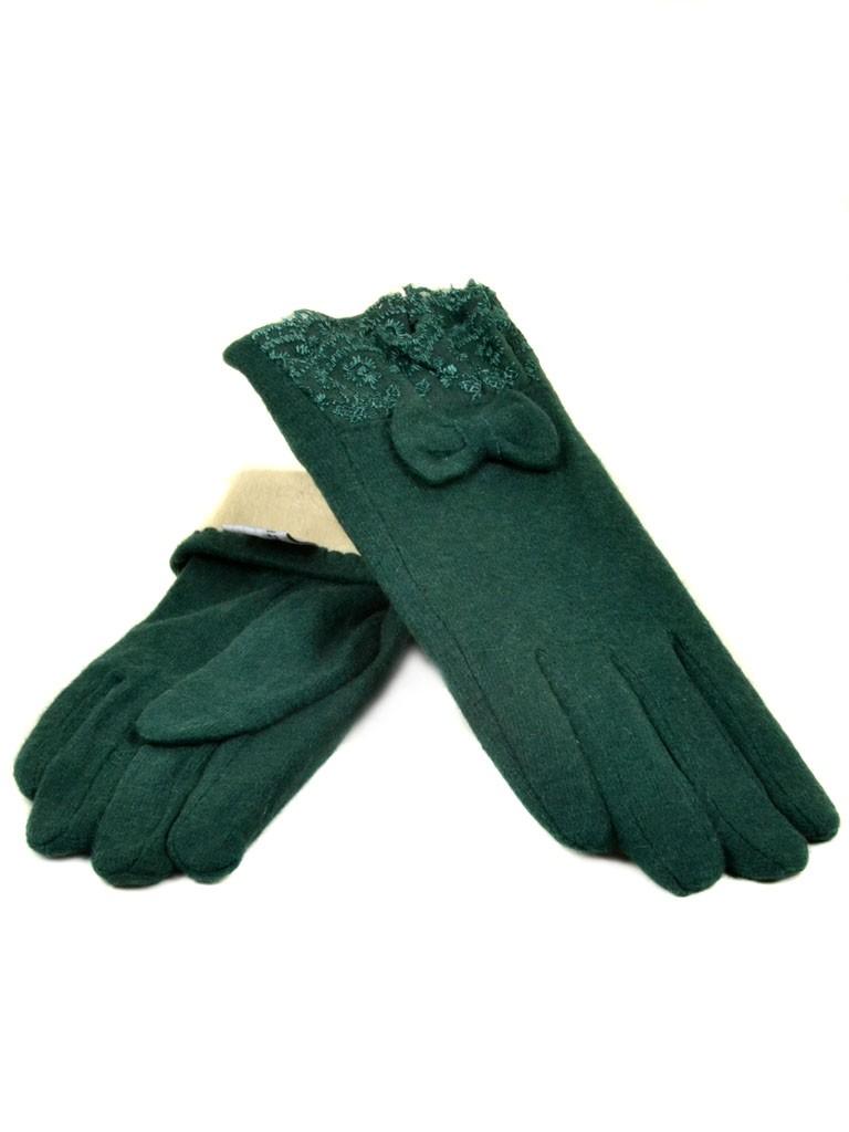 Перчатка Женская кашемир МариFashion (ПЛ) дор F12 мод2 зел