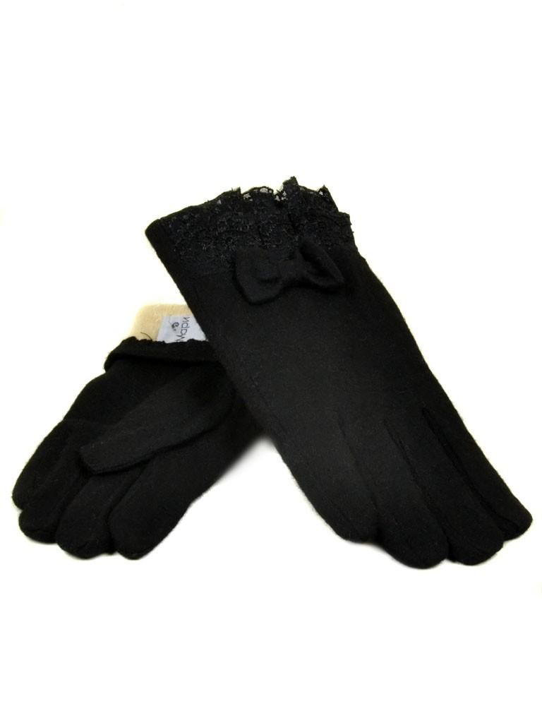 Перчатка Женская кашемир МариFashion (ПЛ) дор F12 мод2 чер