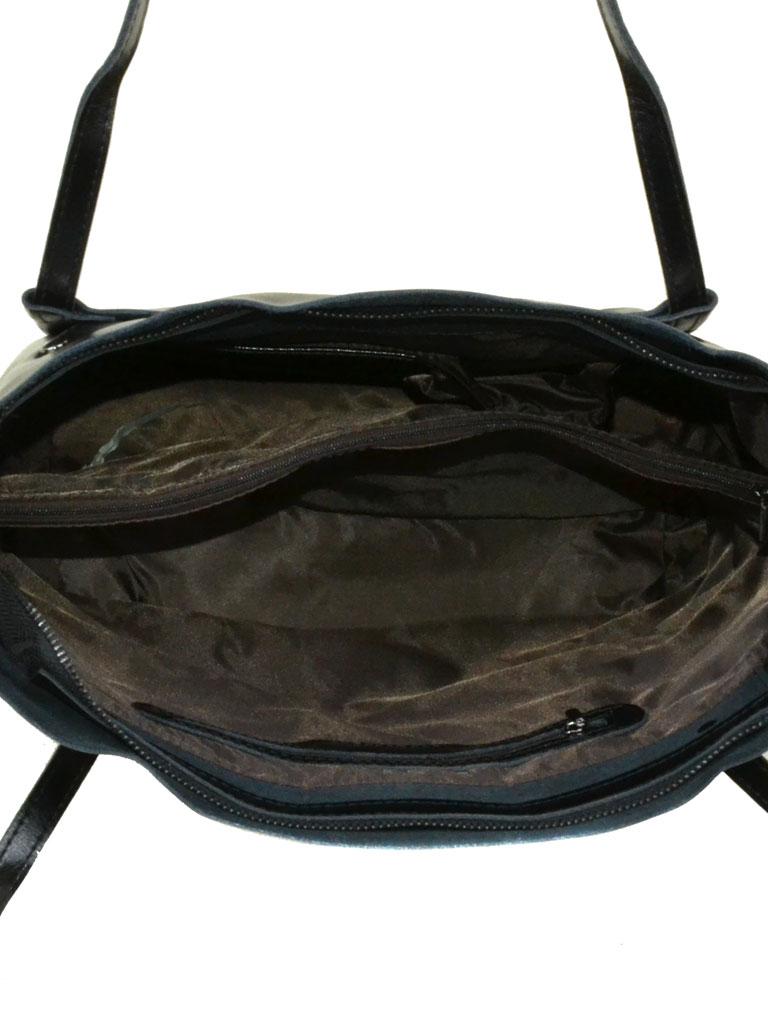 Сумка Женская Классическая кожа Podium 6-01 8601 black - фото 4