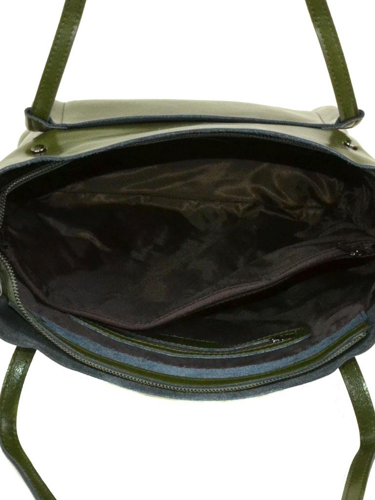 Сумка Женская Классическая кожа Podium 6-01 8601 green