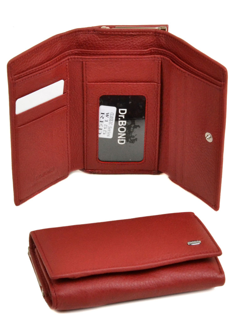 Кошелек Classik кожа dr.Bond W155 red