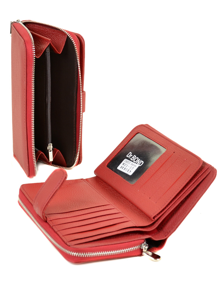 Кошелек Classik кожа DR. BOND W21-17 red - фото 4