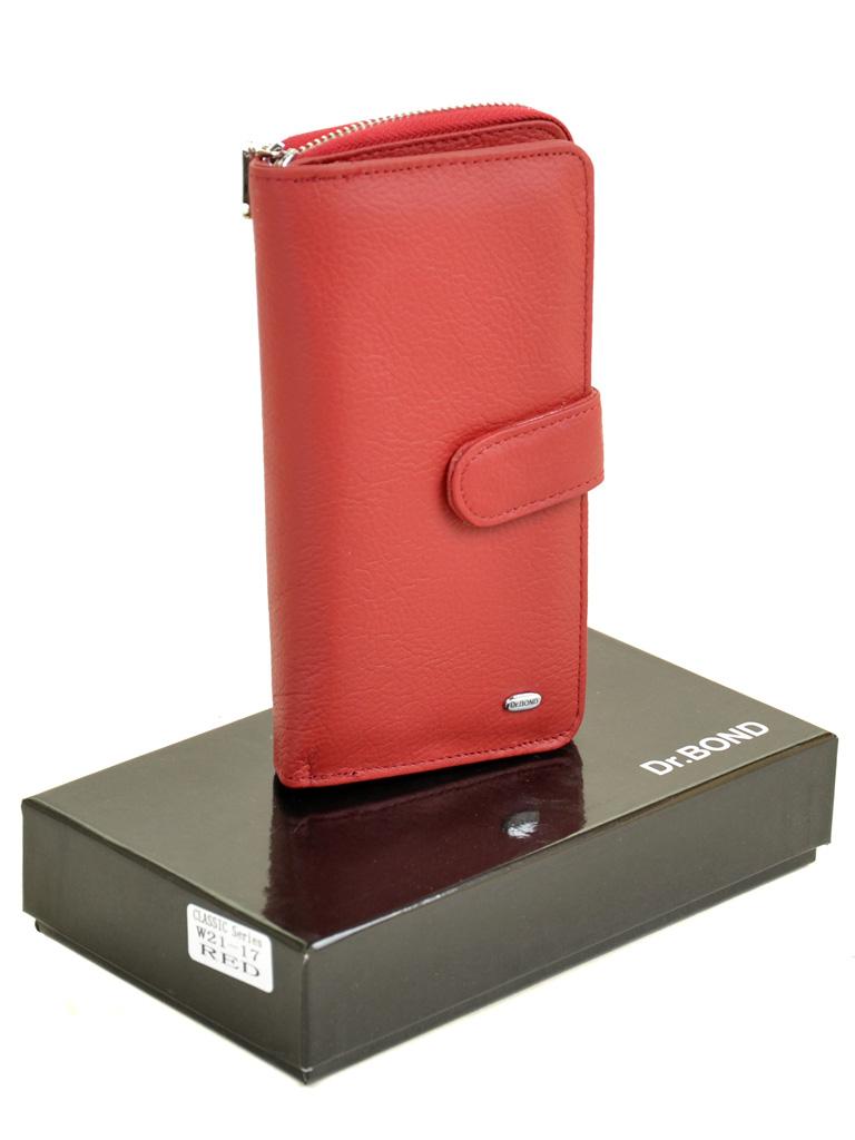 Кошелек Classik кожа DR. BOND W21-17 red