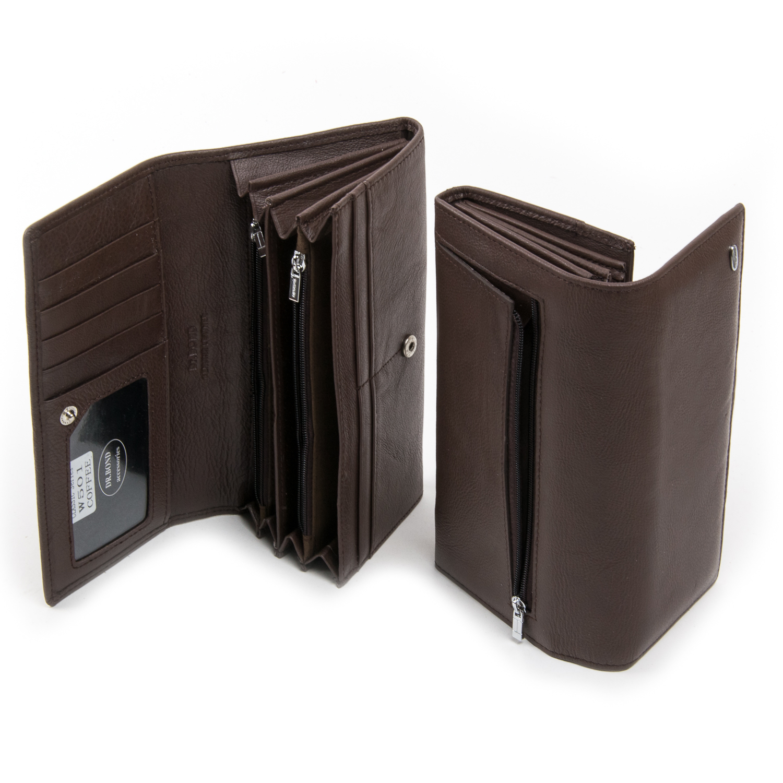 Кошелек Classic кожа DR. BOND W501 coffee - фото 4