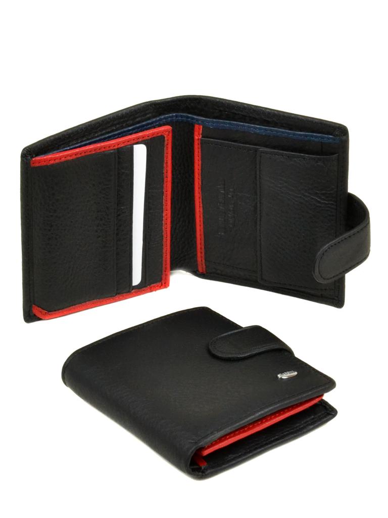 Кошелек Classik-color кожа dr.Bond MS-22 black-red-blue