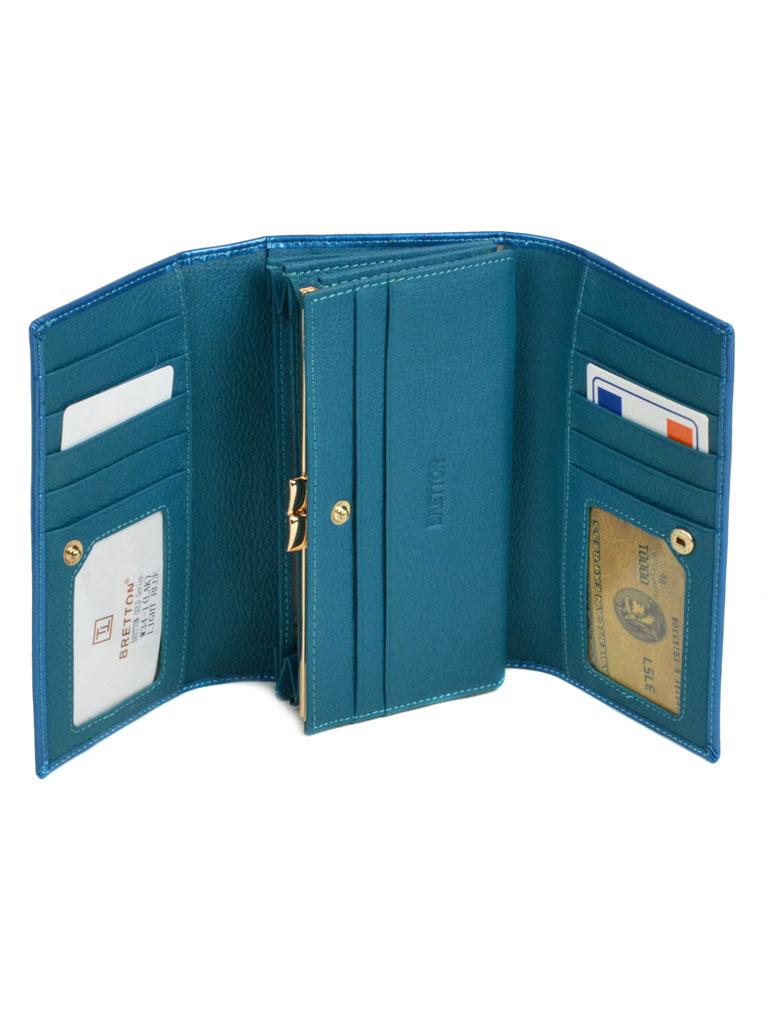Кошелек Gold кожа Bretton W34-1 l-blue - фото 3
