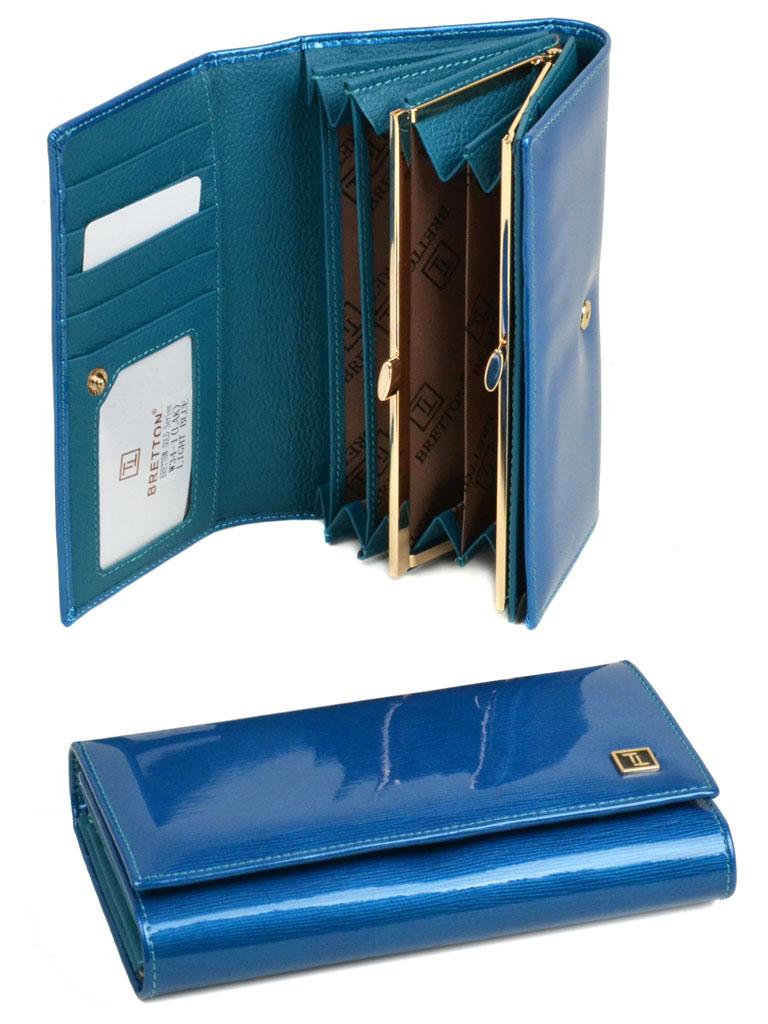 Кошелек Gold кожа Bretton W34-1 l-blue