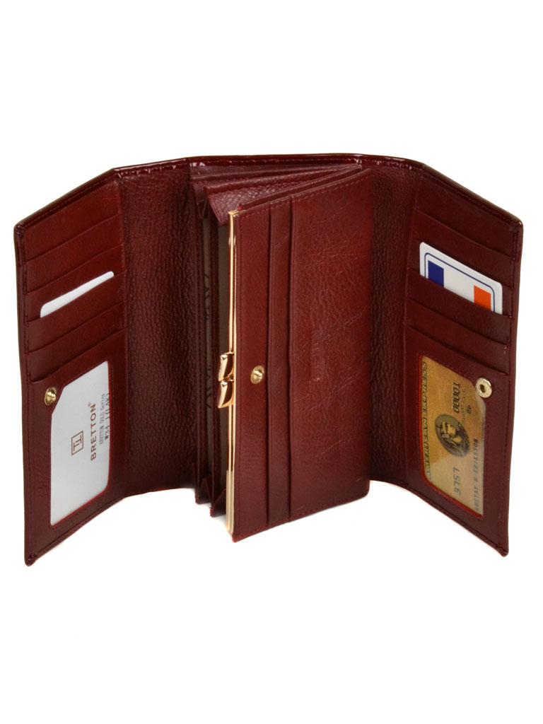 Кошелек Gold кожа Bretton W34-1 red - фото 3