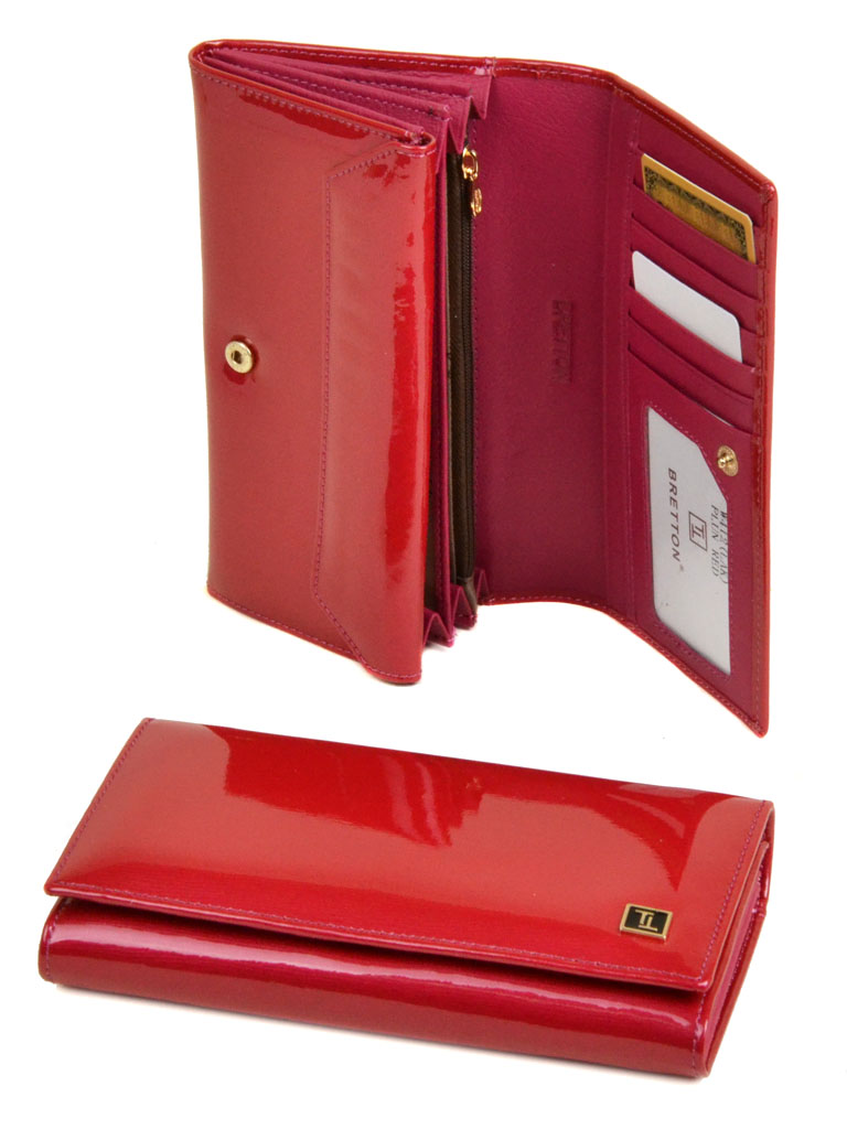 Кошелек Gold кожа Bretton W412 plum-red