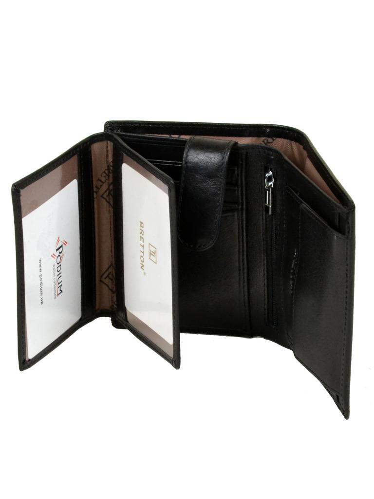 Кошелек Softina кожа Bretton MS-26 black