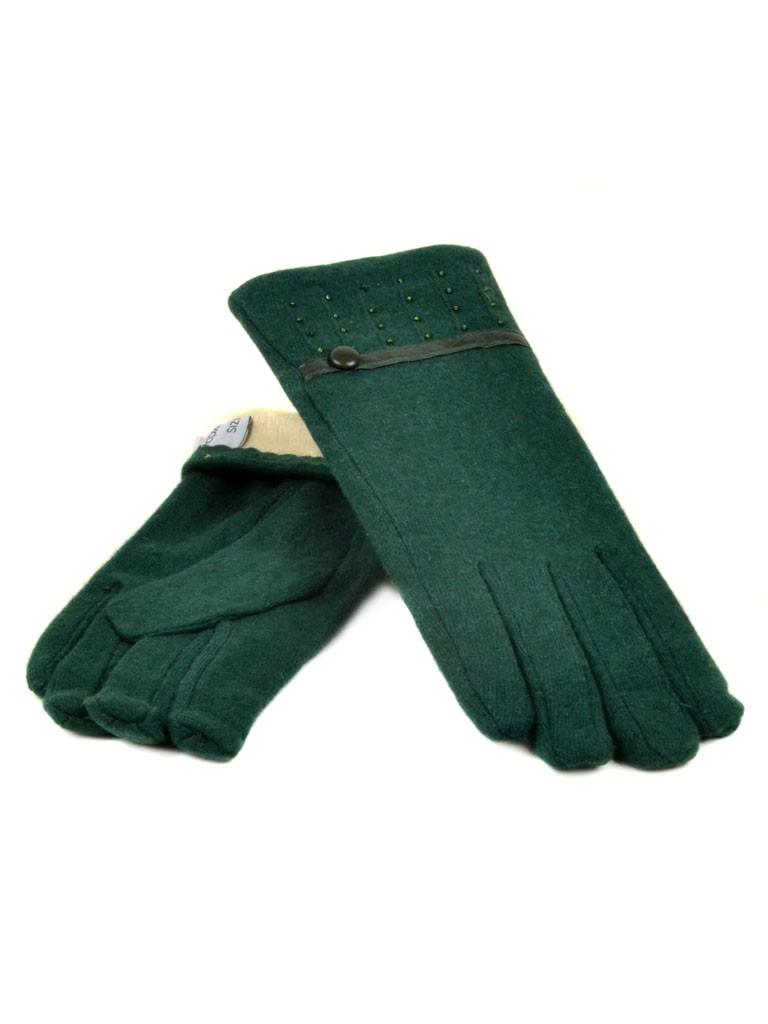 Перчатка Женская кашемир МариFashion (ПЛ) дор F12 мод5 зел