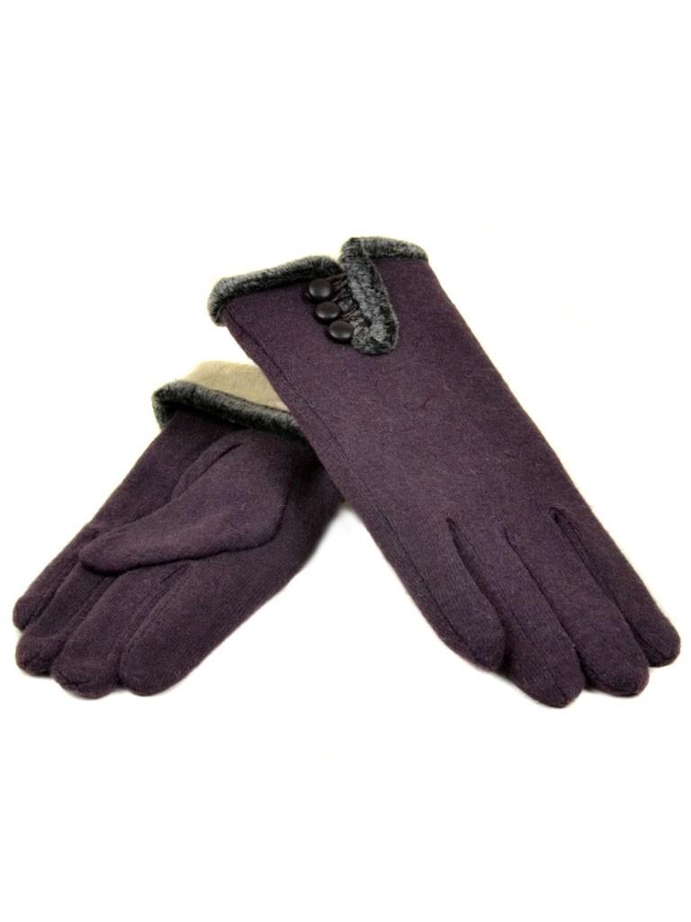 Перчатка Женская кашемир МариFashion (ПЛ) дор F12 мод6 баклажан