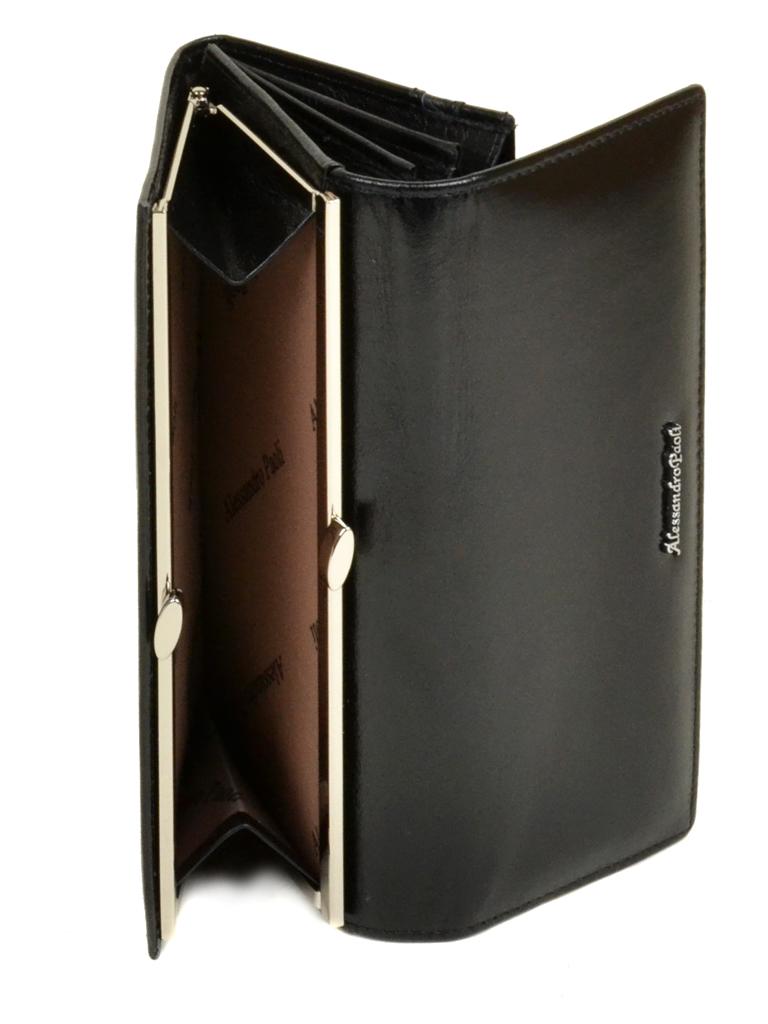 Кошелек ITA кожа Alessandro Paoli W1 black