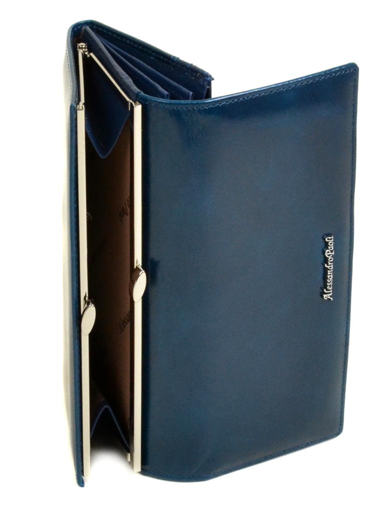 Кошелек ITA кожа Alessandro Paoli W1 l-blue