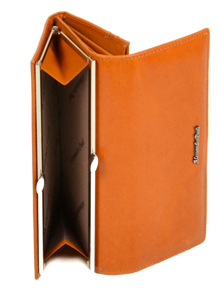 Кошелек ITA кожа Alessandro Paoli W1 orange