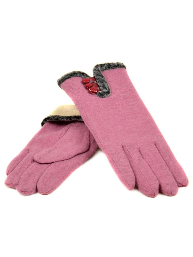 Перчатка Женская кашемир МариFashion (ПЛ) дор F12 мод6 роз