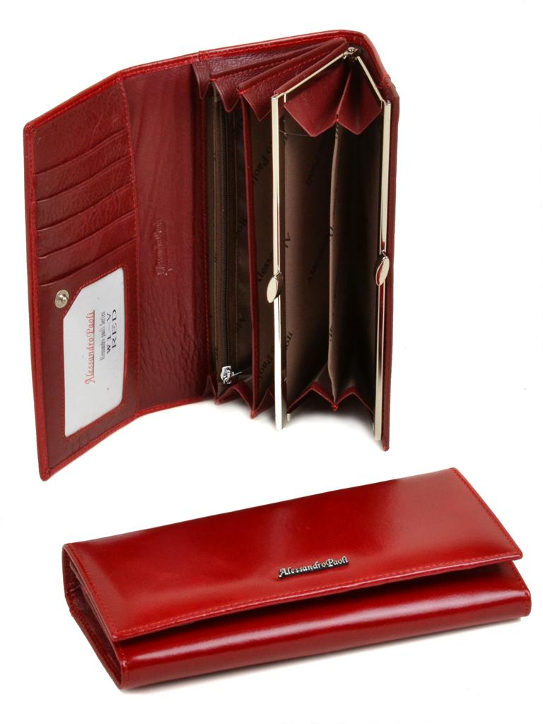 Кошелек ITA кожа Alessandro Paoli W1-V red