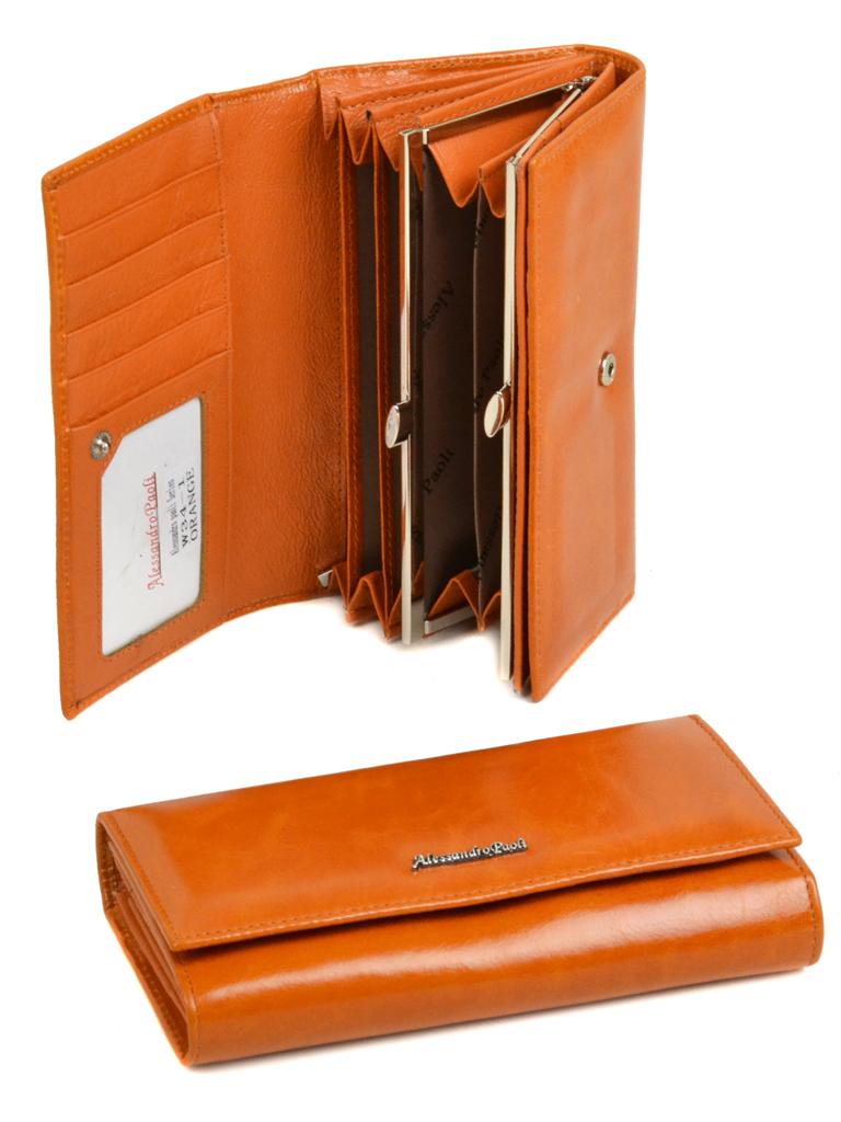 Кошелек ITA кожа Alessandro Paoli W34-1 orange