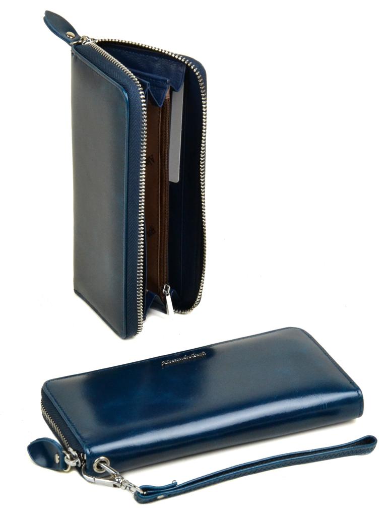 Кошелек ITA кожа Alessandro Paoli W38 l-blue