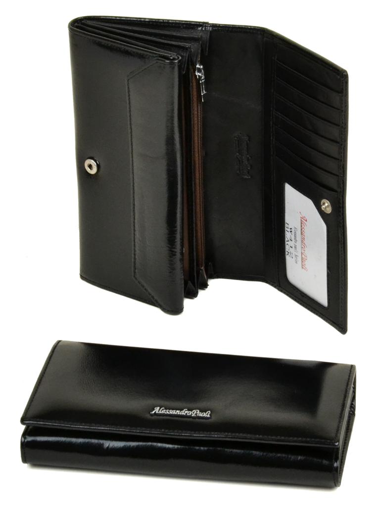 Кошелек ITA кожа Alessandro Paoli W412 black